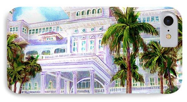 Moana Surfrider Hotel On Waikiki Beach #206 Phone Case by Donald k Hall