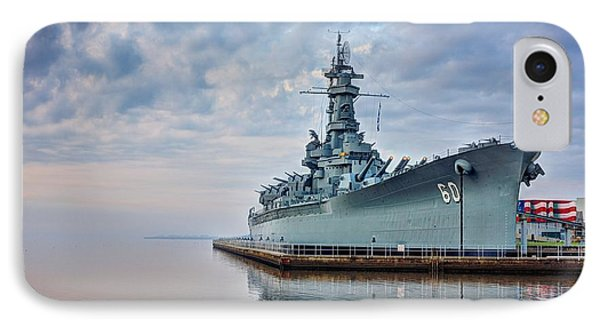 Mobile Bay And The Uss Alabama IPhone Case by JC Findley