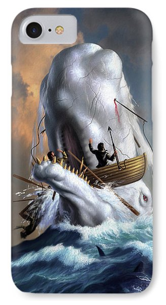 Moby Dick 1 IPhone Case by Jerry LoFaro