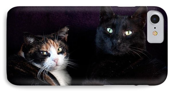 IPhone Case featuring the photograph Mochi And Stinky by Laura Melis