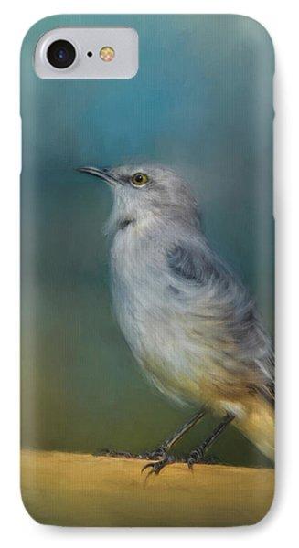 Mockingbird On A Windy Day IPhone Case by Jai Johnson