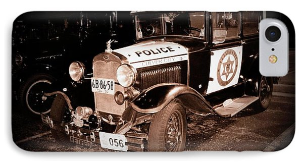 Model A Culver City Police Bw IPhone Case by David Dunham