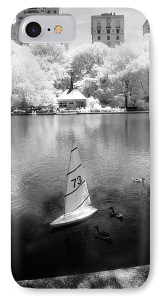 IPhone Case featuring the photograph Model Boat Lake Central Park by Dave Beckerman