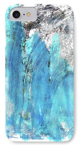 Modern Abstract Art - Blue Essence - Sharon Cummings IPhone Case by Sharon Cummings