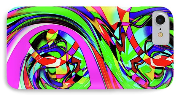 Modern Abstract IPhone Case by Ralph Klein