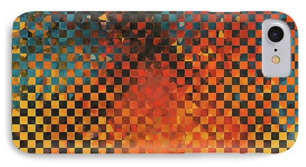 Modern Art - Pieces 14 - Sharon Cummings IPhone Case by Sharon Cummings