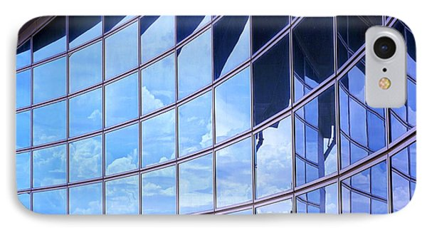 IPhone Case featuring the photograph Modern Building Facade With Reflection by Yali Shi