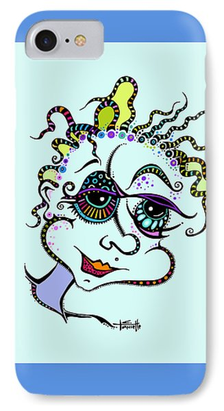 IPhone Case featuring the drawing Modern Day Medusa by Tanielle Childers