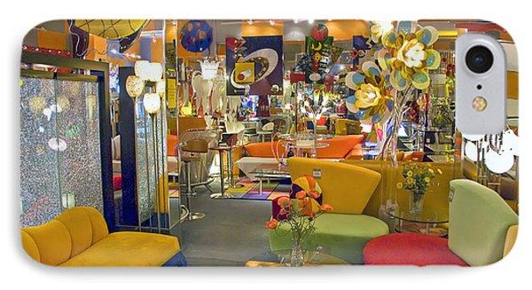 IPhone Case featuring the photograph Modern Deco Furniture Store Interior by David Zanzinger