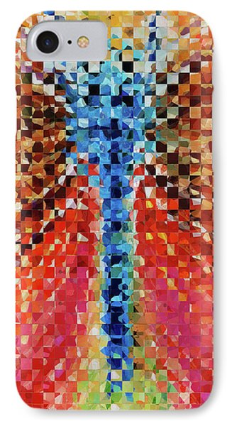 Modern Dragonfly Art - Pieces 6 - Sharon Cummings IPhone Case