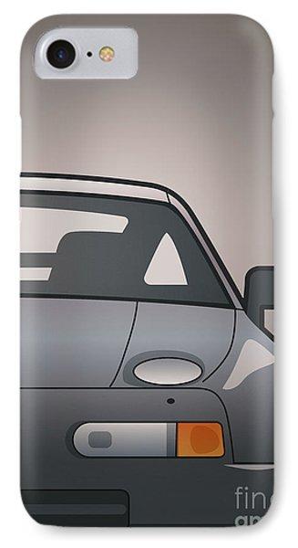 Modern Euro Icons Series Porsche 928 Gts Split IPhone Case by Monkey Crisis On Mars