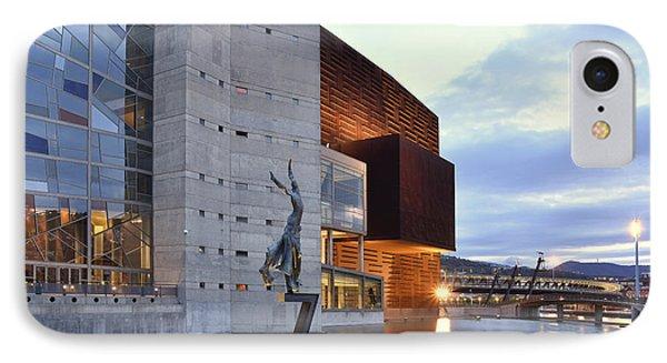 IPhone Case featuring the photograph Modern Euskalduna Center Bilbao by Marek Stepan