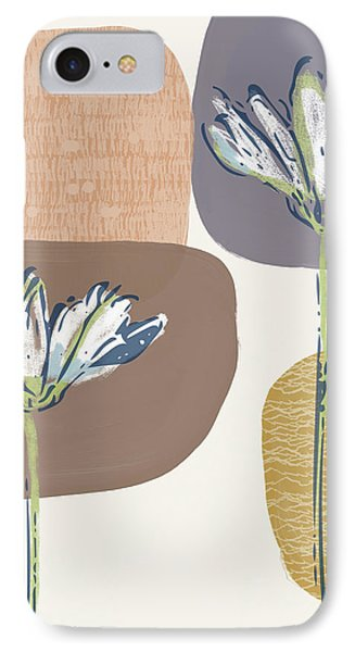 Simple iPhone 7 Case - Modern Fall Floral 1- Art By Linda Woods by Linda Woods