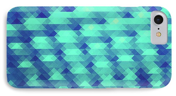 Modern Fashion Abstract Color Pattern In Blue   Green IPhone Case by Philipp Rietz