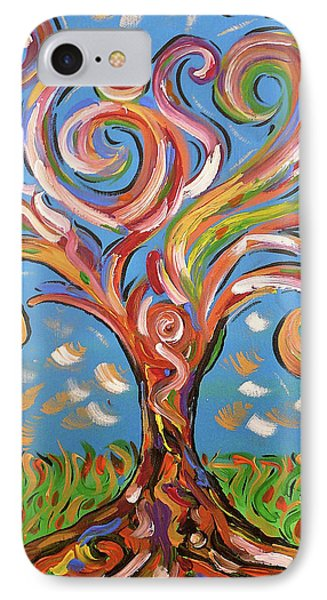 Modern Impasto Expressionist Painting  IPhone Case by Gioia Albano