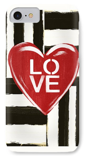 Modern Love- Art By Linda Woods IPhone Case by Linda Woods