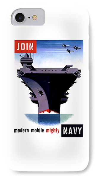 Modern Mobile Mighty Navy IPhone Case by War Is Hell Store