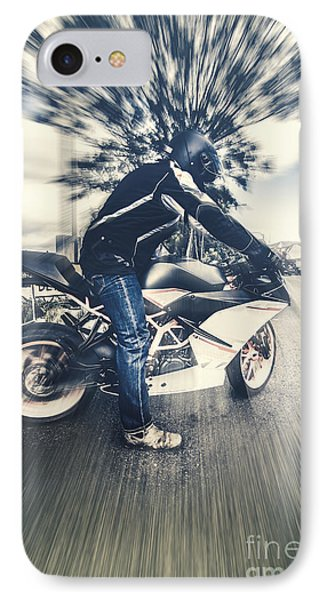 Modern Motorcyclists IPhone Case by Jorgo Photography - Wall Art Gallery