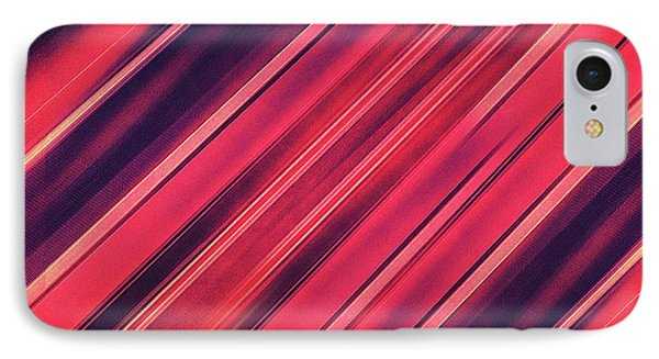 Modern Red Black Stripe Abstract Stream Lines Texture Design  IPhone Case