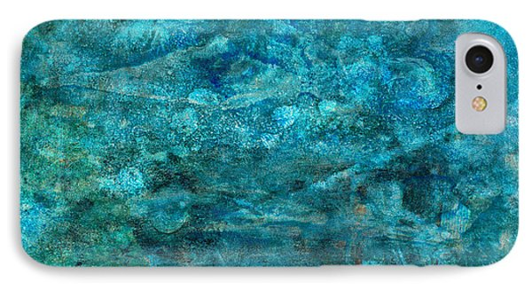 Modern Turquoise Art - Deep Mystery - Sharon Cummings IPhone Case