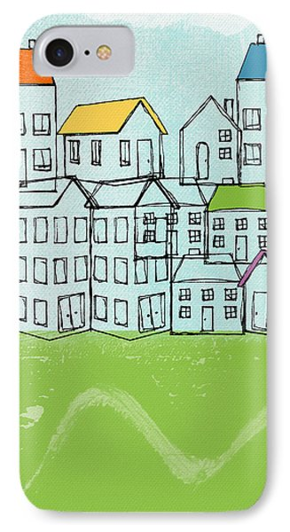 Modern Village IPhone Case by Linda Woods