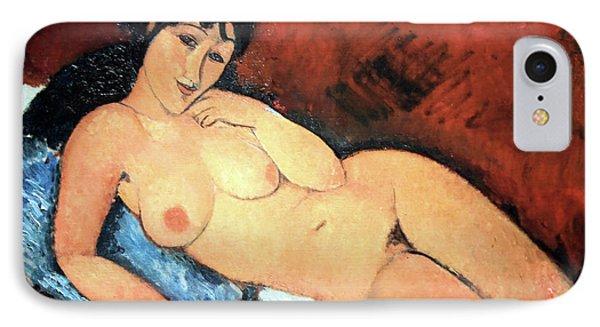 Modigliani's Nude On A Blue Cushion IPhone Case