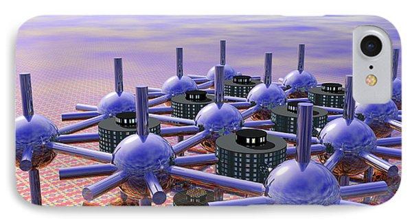 Modular City Phone Case by Nicholas Burningham