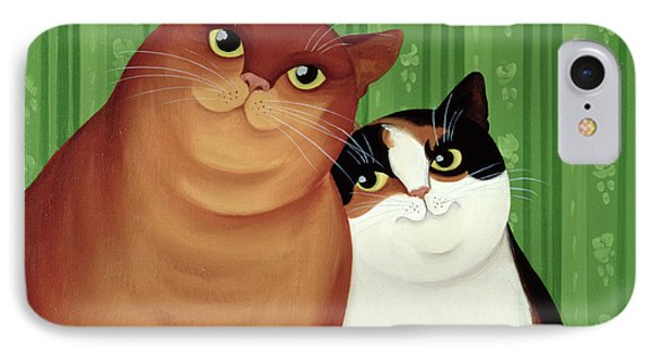 Moggies IPhone Case by Magdolna Ban