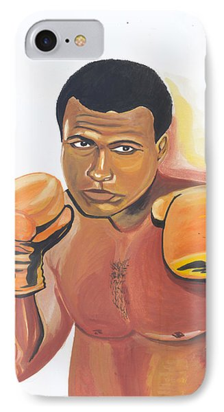 IPhone Case featuring the painting Mohammed Ali by Emmanuel Baliyanga