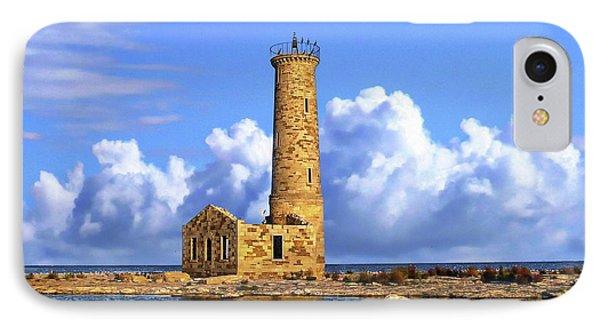 Mohawk Island Lighthouse IPhone Case by Anthony Dezenzio
