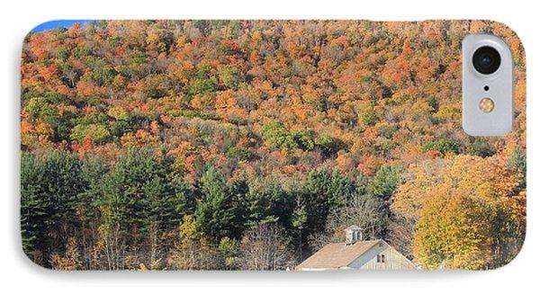 Mohawk Trail Fall Foliage And Farm IPhone Case by John Burk
