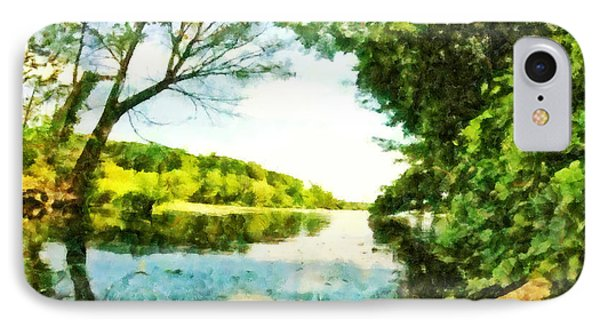 IPhone Case featuring the photograph Mohegan Lake By The Bridge by Derek Gedney