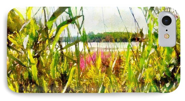 IPhone Case featuring the painting Mohegan Lake In The Brush by Derek Gedney