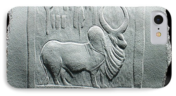 IPhone Case featuring the relief Mohenjodaro Seal Relief Drawing by Suhas Tavkar