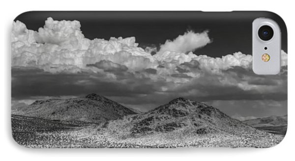 IPhone Case featuring the photograph Mojave 020 Bw by Lance Vaughn