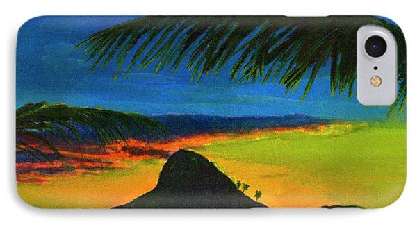 Mokolii Sunset #80  Phone Case by Donald k Hall
