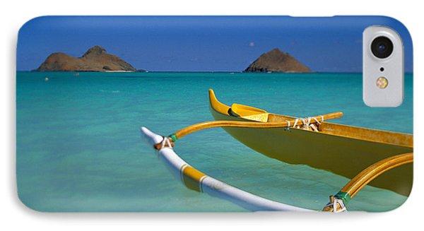 Mokulua Islands, Outrigger Phone Case by Dana Edmunds - Printscapes