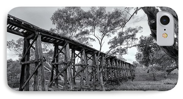 IPhone Case featuring the photograph Mollisons Creek Trestle Bridge by Linda Lees