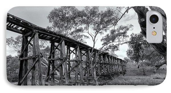 Mollisons Creek Trestle Bridge IPhone Case by Linda Lees
