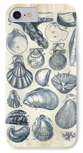 Mollusks - 1842 - 10 IPhone Case by Aged Pixel