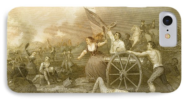 Molly Pitcher At The Battle Of Monmouth IPhone Case