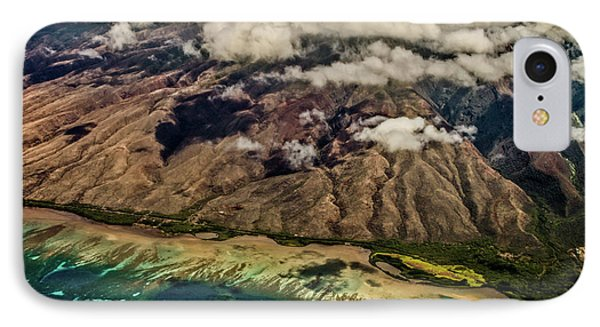 IPhone Case featuring the photograph Molokai From The Sky by Joann Copeland-Paul