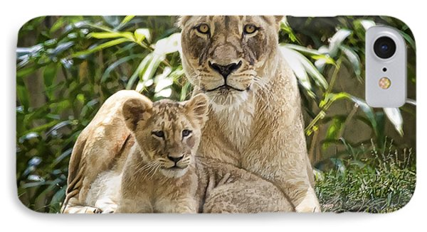 IPhone Case featuring the photograph Mom And Baby by Cheri McEachin