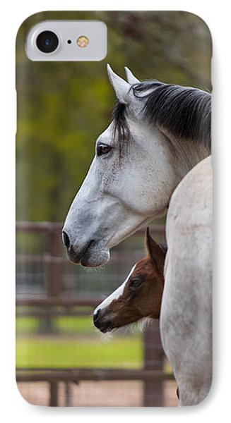 IPhone Case featuring the photograph Mom And Baby by Sharon Jones
