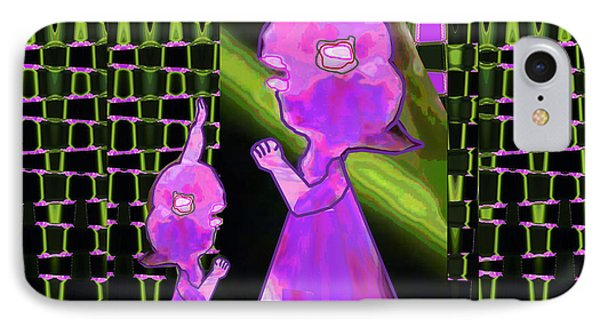Mommy I Have A Secret  Flower Girl To Flower Mom.  Flower Abstract Animation Art By Navin Joshi  On  IPhone Case