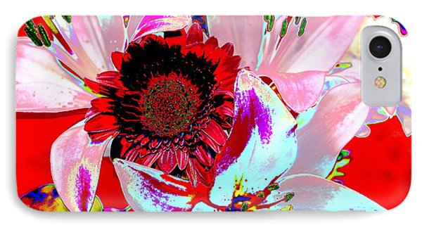 Mom's Day Bouqet Abstract IPhone Case by M Diane Bonaparte