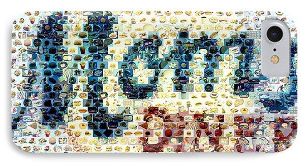 Moms Diner Food Mosaic Phone Case by Paul Van Scott