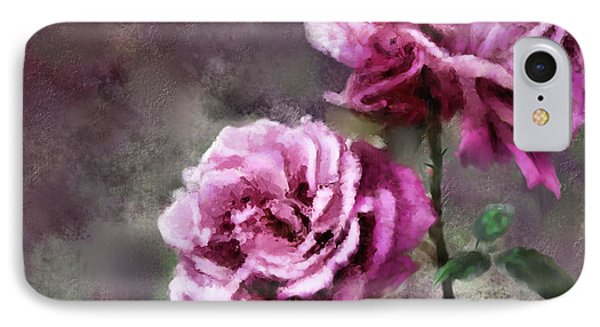 IPhone Case featuring the digital art Moms Roses by Susan Kinney