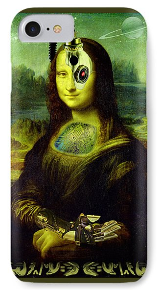 Mona Lisa Borg IPhone Case by Robert Kernodle