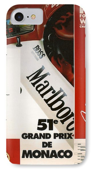 Monaco F1 1993 IPhone Case by Georgia Fowler